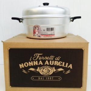 Baldassarre Agnelli Nonna Aurelia 26 cm fornetto Versilia alluminio con sparg...