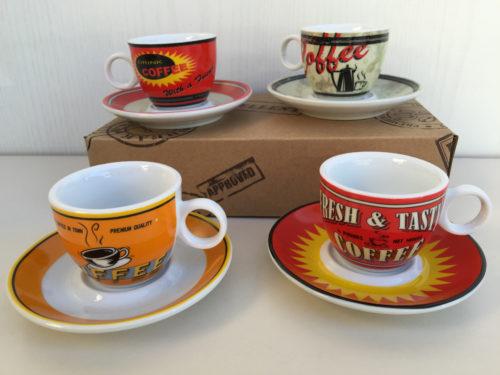 Cayos conf. 4 tazzine con piattino caffè