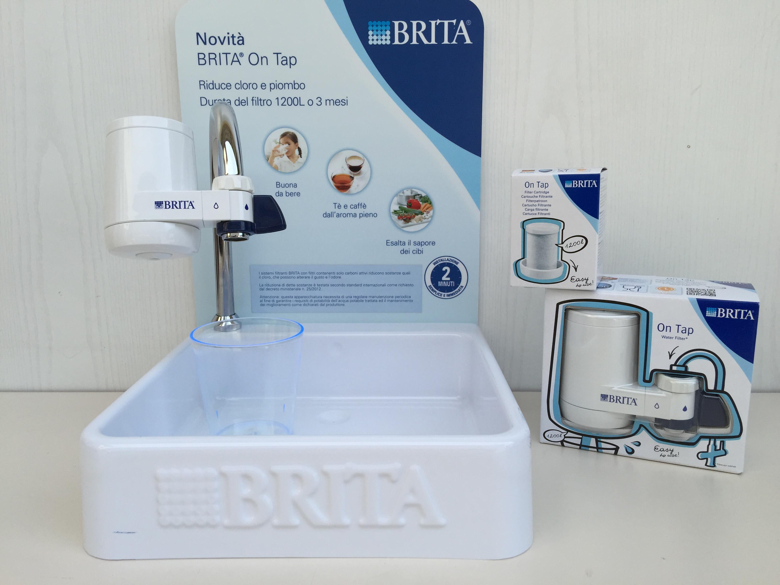 Brita on tap filtro acqua rubinetti domestici paggi casalinghi