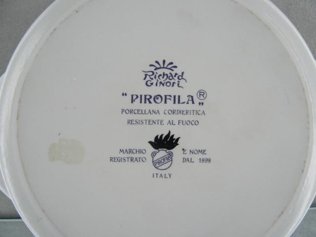 Marchi Richard Ginori.Richard Ginori Teglia Forno Rotonda Porcellana Cordietrica Resistente Al Fuoco