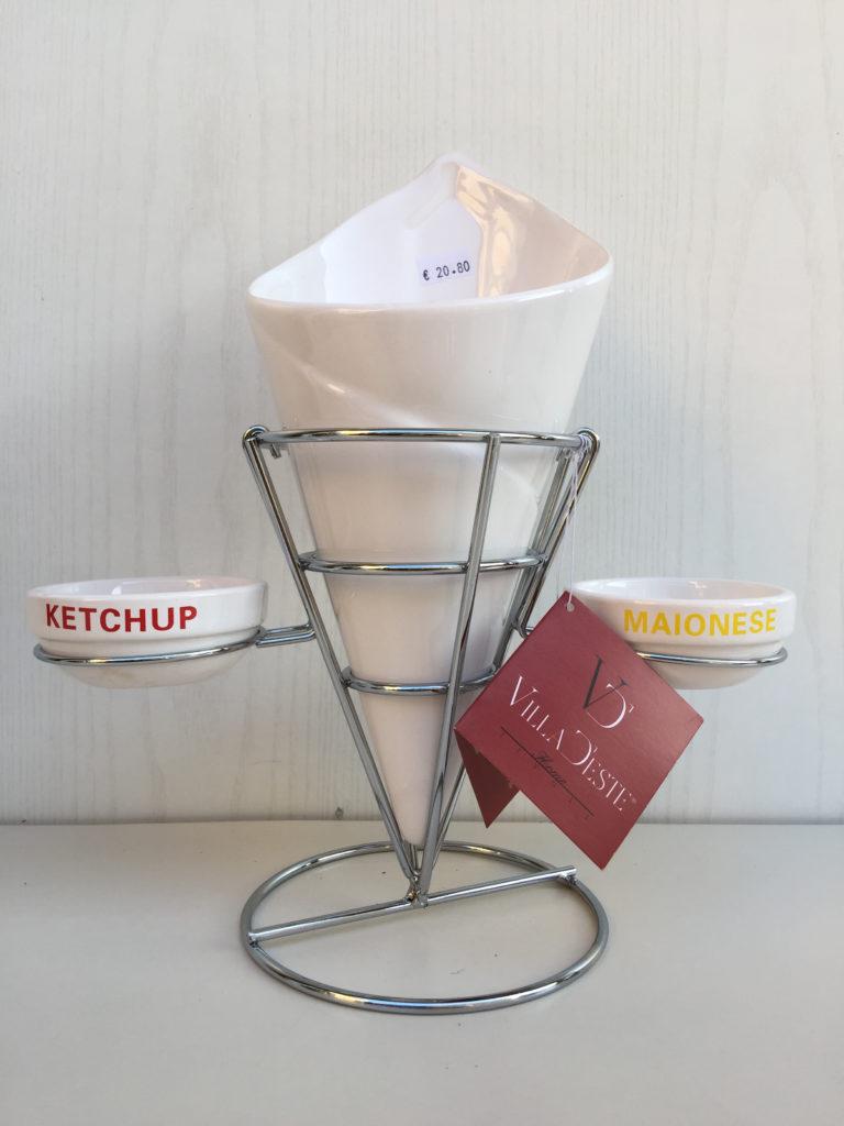 Villa este porta patatine e salse maionese ketchup for Porta ketchup